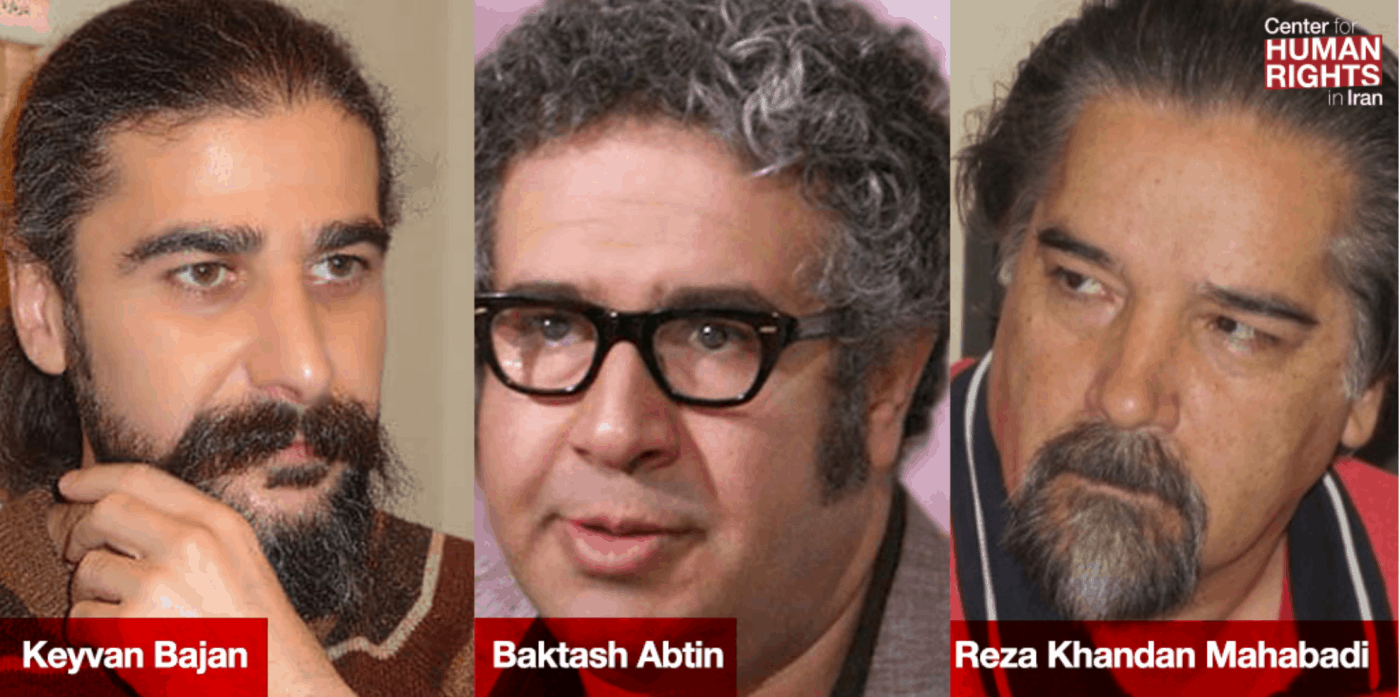 Three members of the Iranian Writers' Association (IWA) who are facing immediate imprisonment in Iran talk with PEN Sydney president, Mark Isaacs